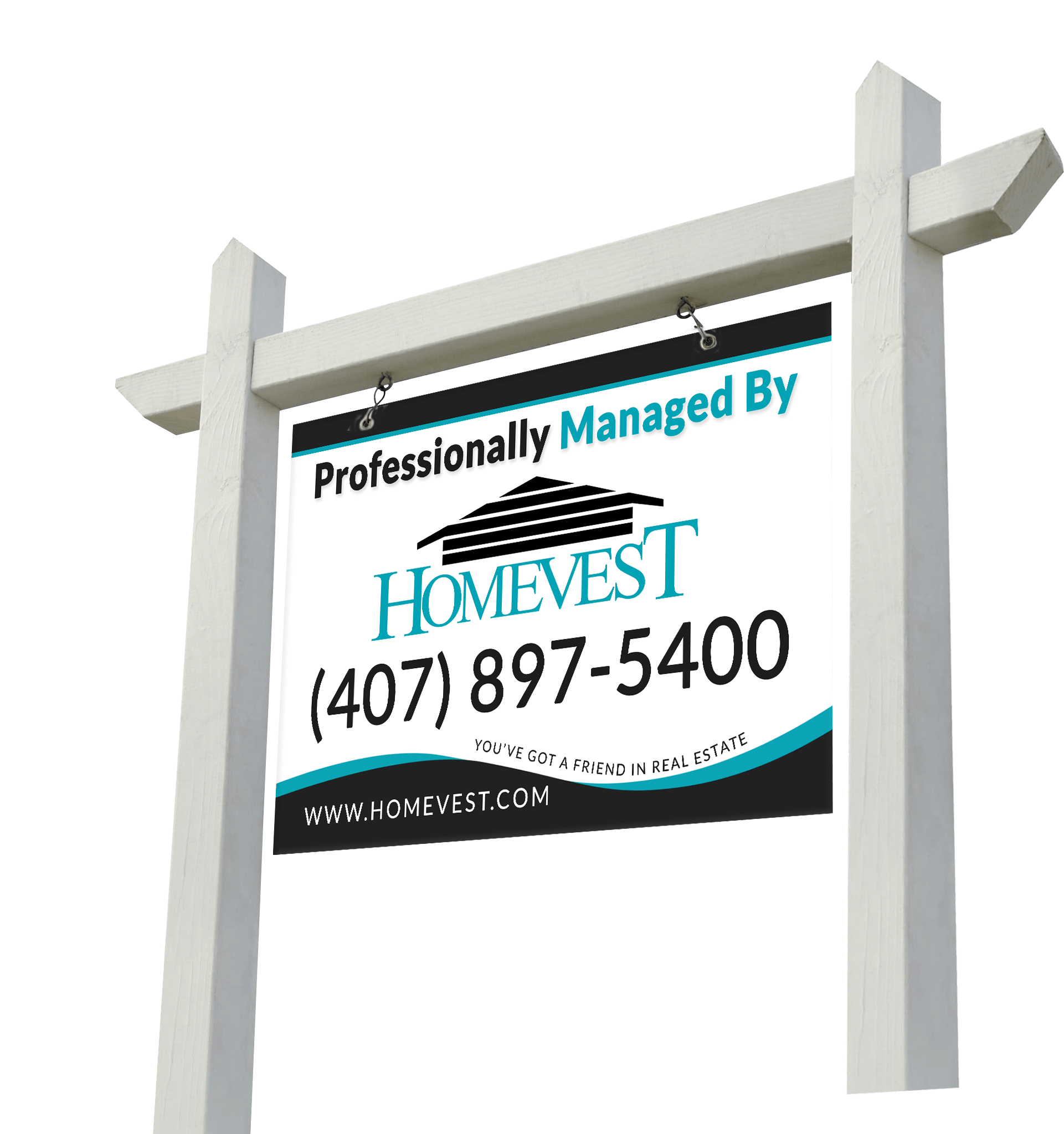 Professionally Management by Homevest Sign